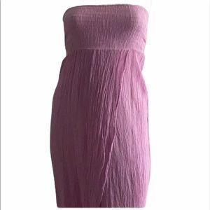 Lagaci Purple Strapless Dress Size-M/L